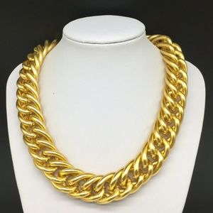 Anne Klein Chunky Gold Tone Chain Link Necklace